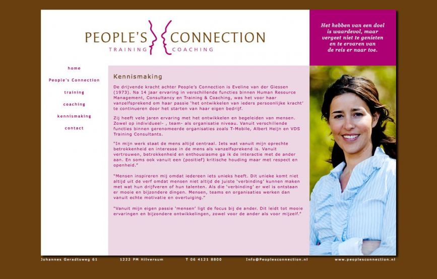 Peoples Connection website