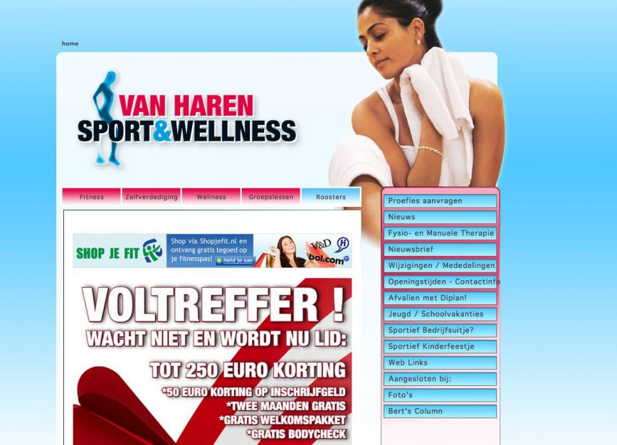 Van Haren Sport website