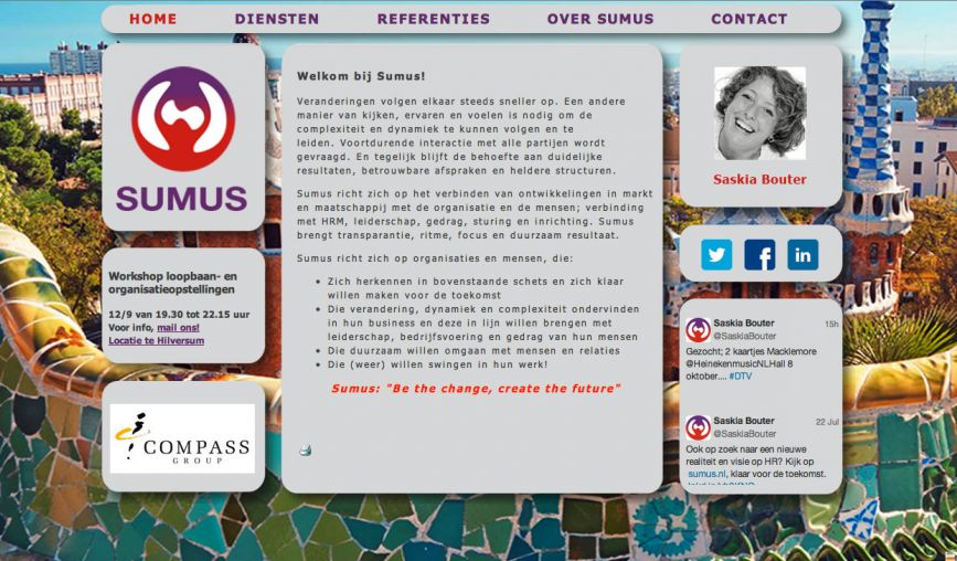 Website Sumus - www.sumus.nl