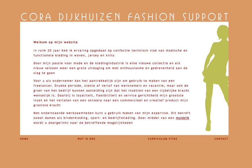 Website Cora Dijkhuizen Fashion Support