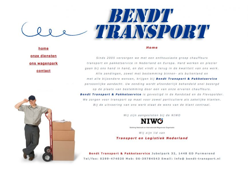 website Bendt Transport