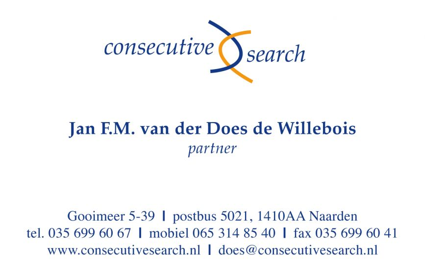 Consecutive Search visitekaartje