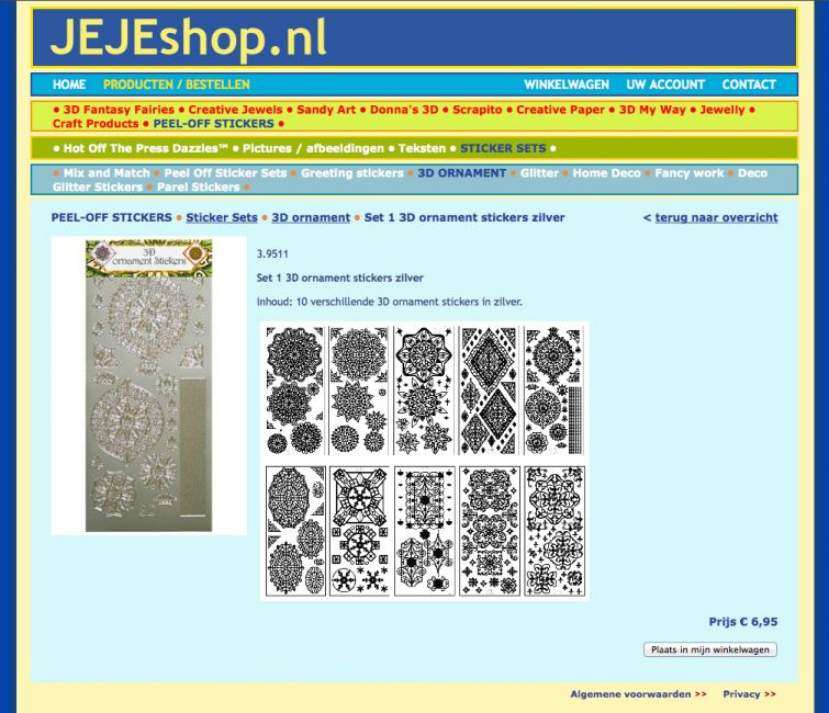 JEJE Shop website